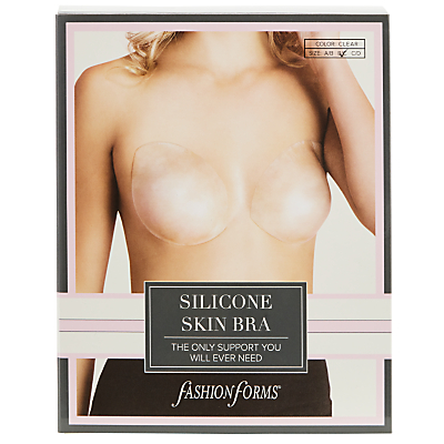 Fashion Forms Silicone Skin Adhesive Bra, Clear