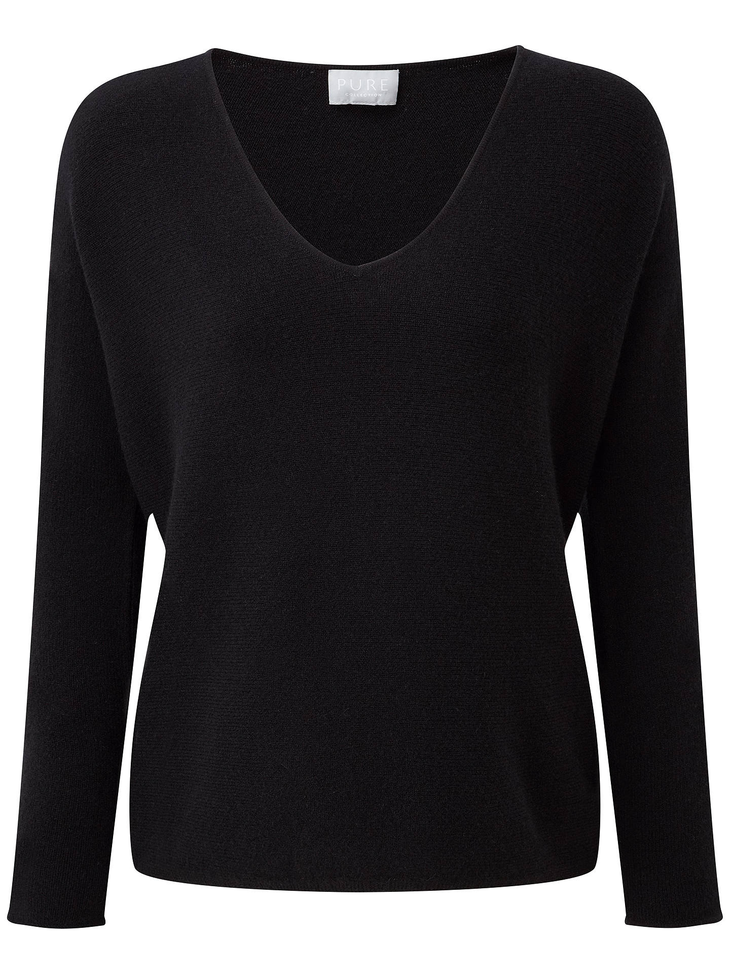 Buy Pure Collection Hallie Sempre Cashmere Jumper, Black, 8 Online at johnlewis.com