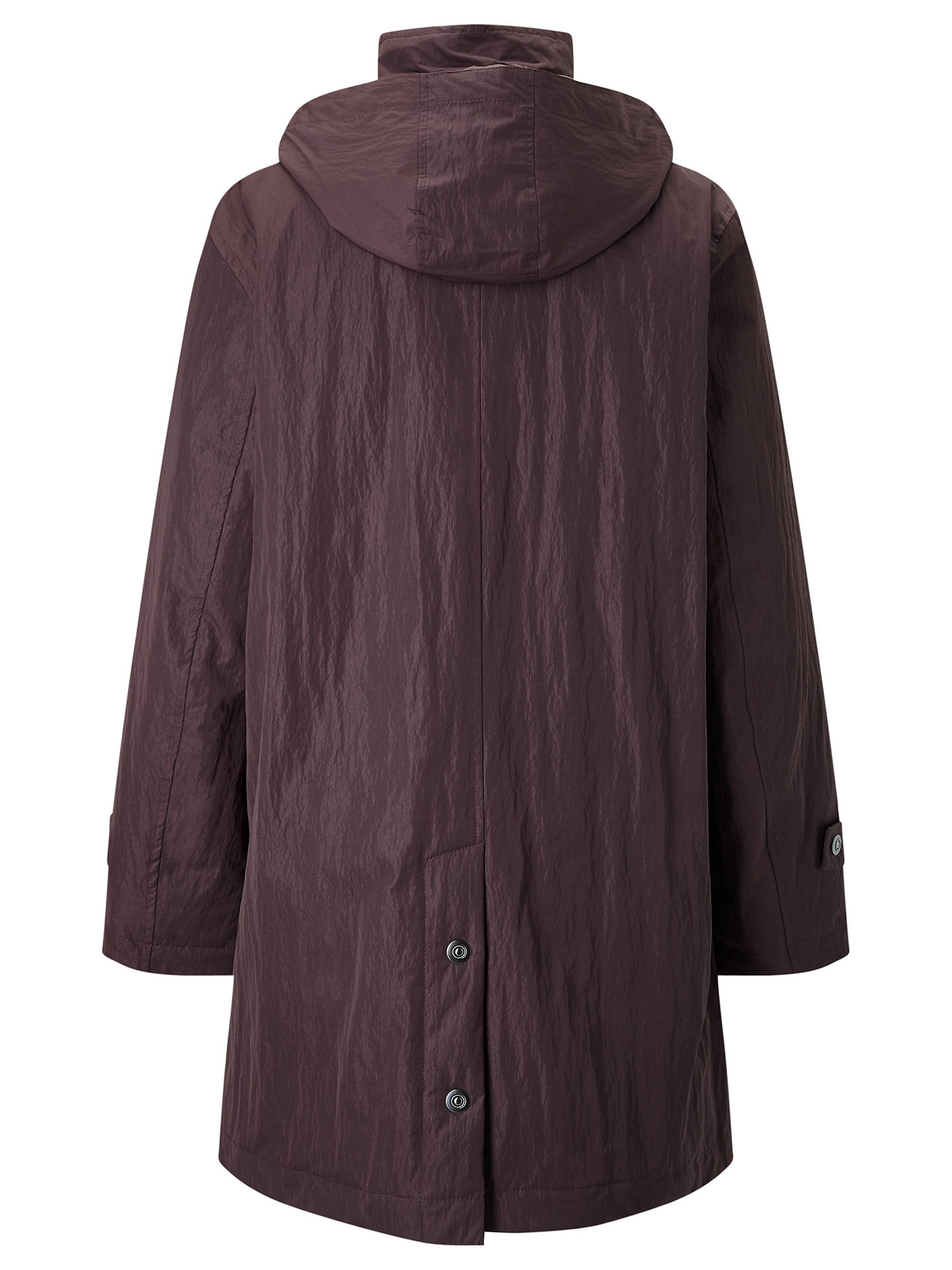 BuyFour Seasons Hooded Caban Coat, Grape, XS Online at johnlewis.com