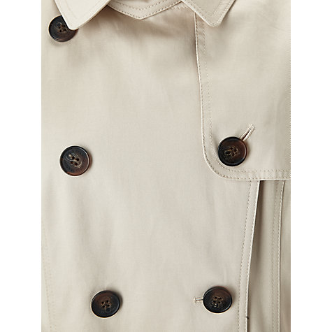 Buy Four Seasons Double Breasted Trench Coat, Natural Online at johnlewis.com