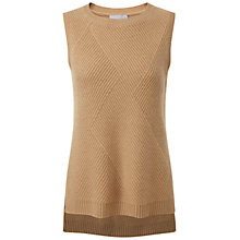 Buy Pure Collection Camila Cashmere Textured Tank, Soft Walnut Online at johnlewis.com