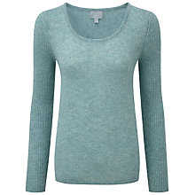 Buy Pure Collection Sandra Gassato Jumper, Blue Frost Online at johnlewis.com