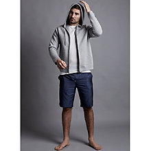 Buy Hamilton and Hare Made in England Blue Chip Cotton Lounge Shorts, Navy Online at johnlewis.com
