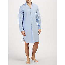 Buy John Lewis Poplin Stripe Nightshirt, Blue/White Online at johnlewis.com