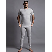 Buy Hamilton and Hare Thermal Cotton Henley T-Shirt, Grey Online at johnlewis.com