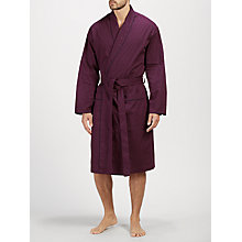 Buy John Lewis Paisley Dot Cotton Robe, Burgundy Online at johnlewis.com