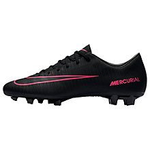 Buy Nike Mercurial Victory VI FG Men's Football Boots, Black/Pink Blast Online at johnlewis.com