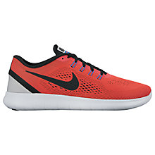 Buy Nike Free RN Men's Running Shoes, Ember Glow/Black Online at johnlewis.com