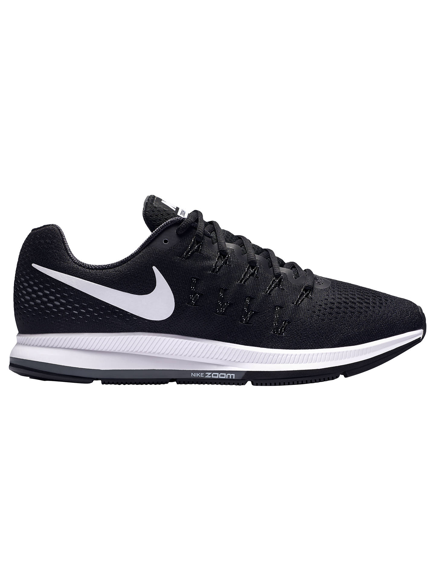 low priced d203a 93254 Buy Nike Air Zoom Pegasus 33 Men s Running Shoes, Black White, 7 Online ...