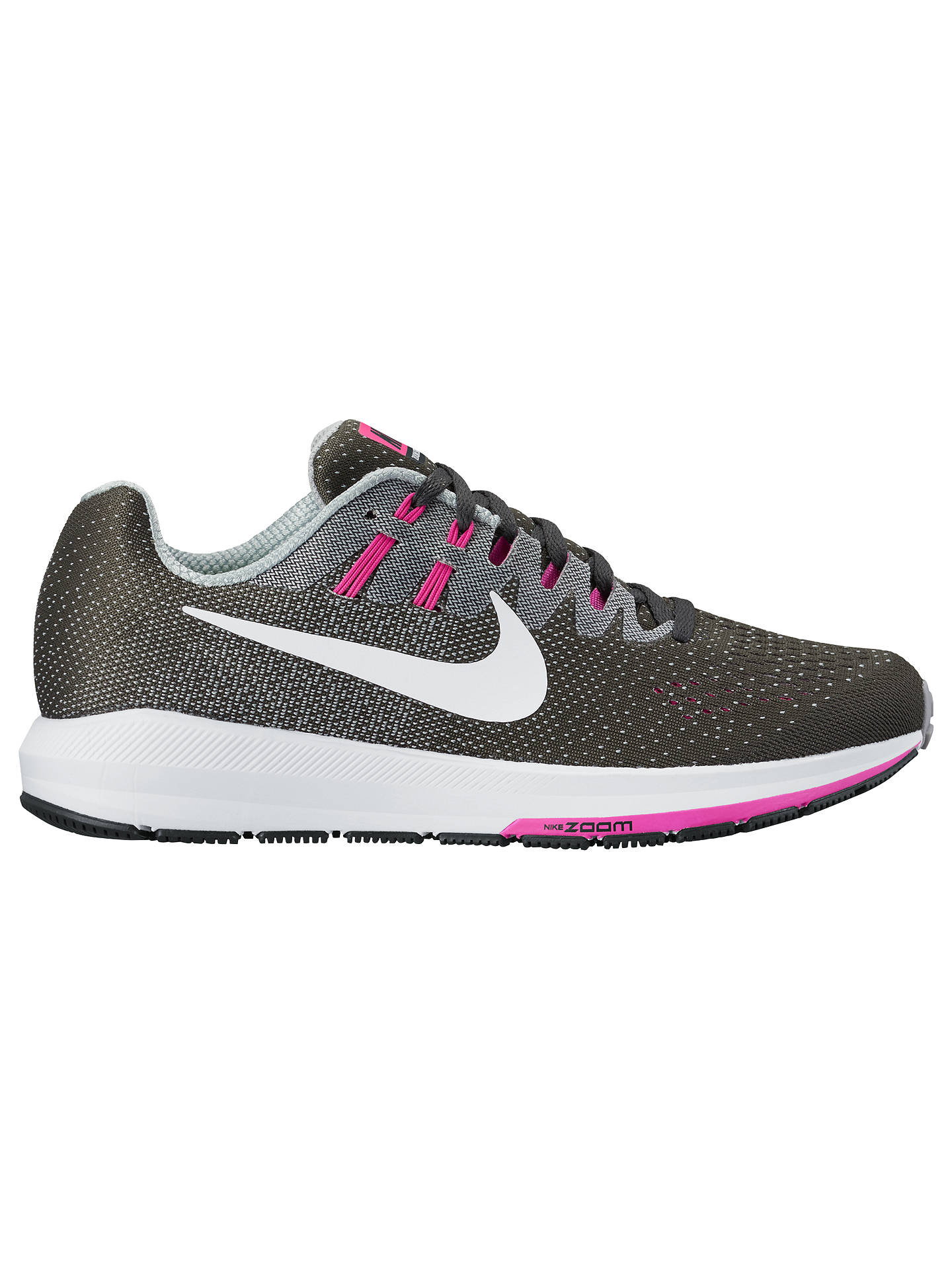 BuyNike Air Zoom Structure 20 Womens Running Shoes, AnthraciteWhite  WolfGrey Fire ...