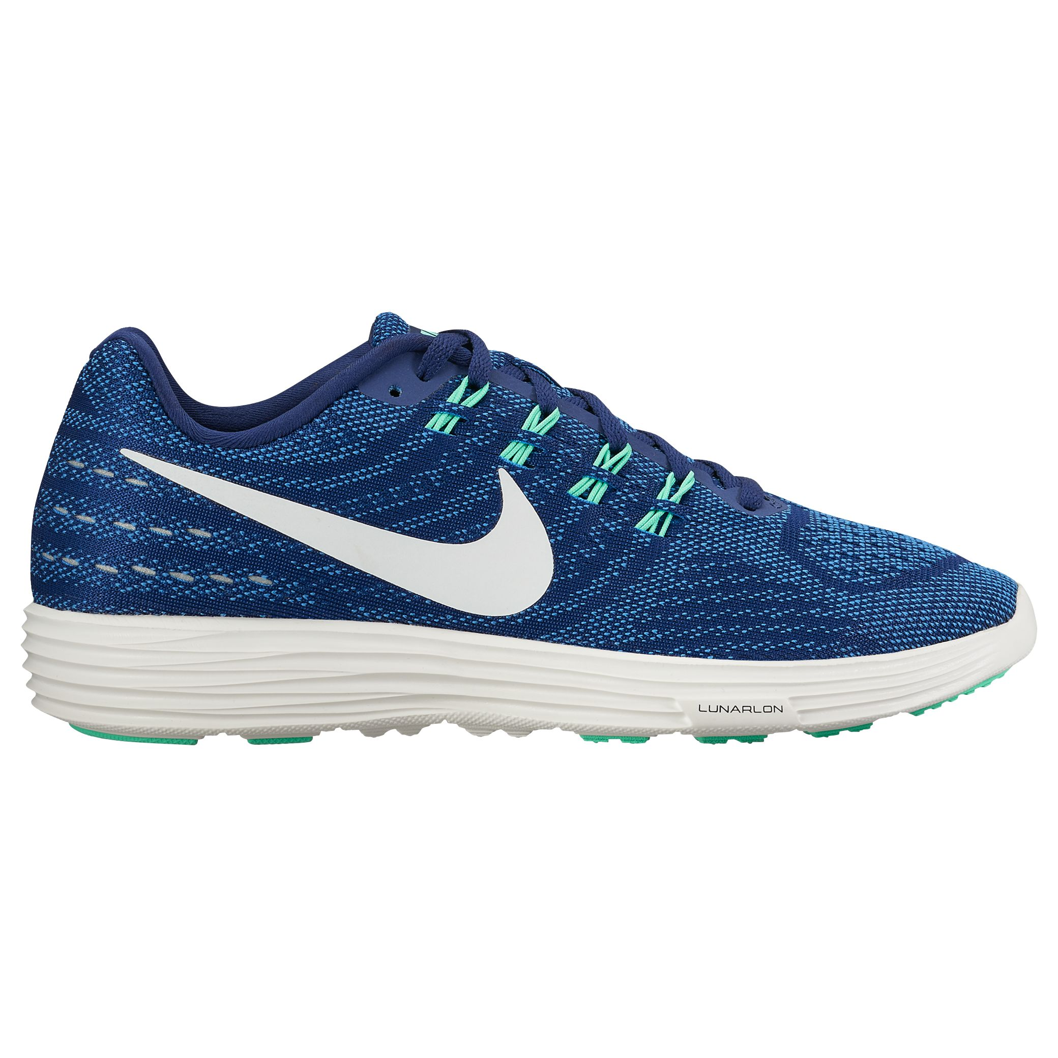 on sale 56f67 6a5d4 Nike LunarTempo 2 Women s Running Shoes, Blue White at John Lewis   Partners