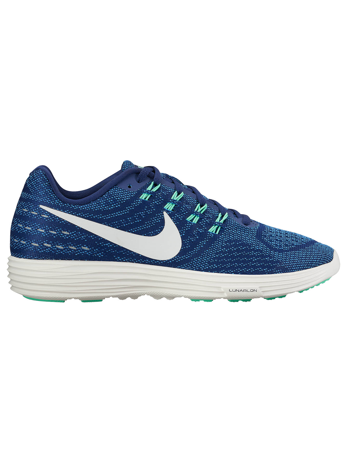 the latest faa28 48b13 Buy Nike LunarTempo 2 Women s Running Shoes, Blue White, 4 Online at  johnlewis ...