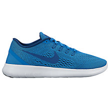 Buy Nike Free RN Women's Running Shoes, Blue/White Online at johnlewis.com