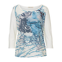 Buy Betty Barclay Embellished Top, Cream/Blue Online at johnlewis.com