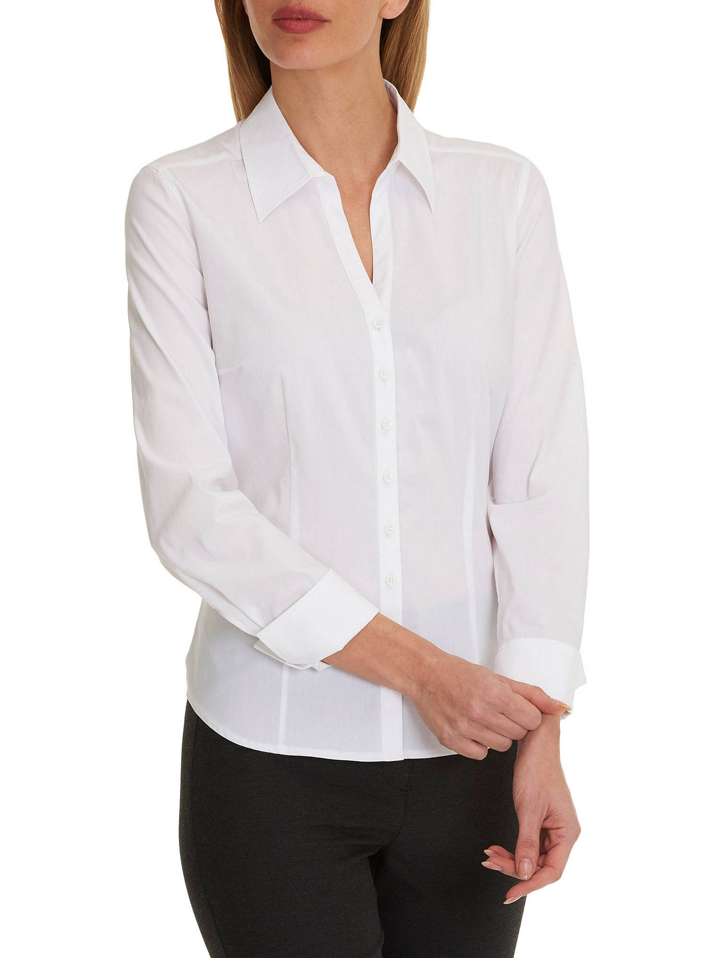 BuyBetty Barclay Stretch Blouse, Bright White, 10 Online at johnlewis.com