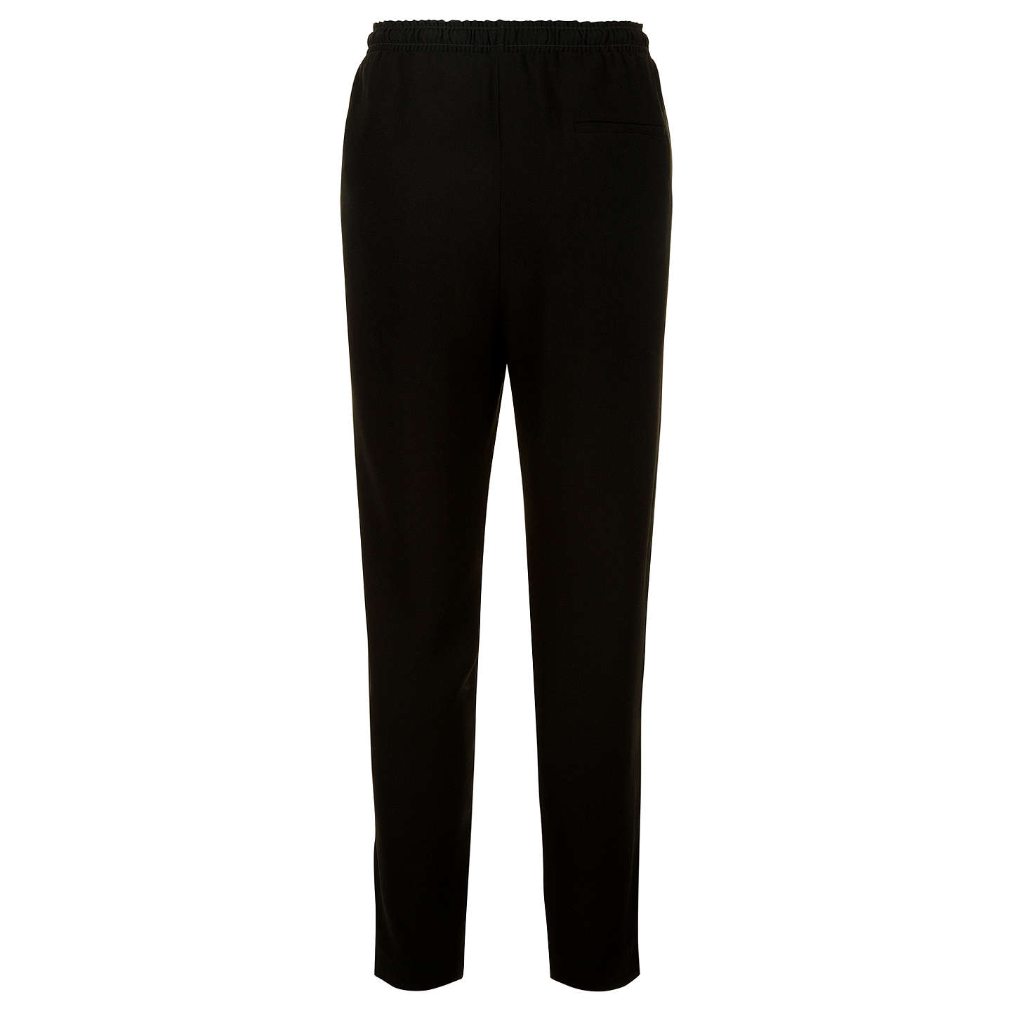BuyJaeger Crepe Drawstring Trousers, Black, 6 Online at johnlewis.com