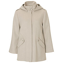Buy Betty Barclay A-Line Hooded Jacket, Nature-Grey Online at johnlewis.com