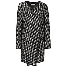 Buy Betty Barclay Textured Knit Coat, Black/White Online at johnlewis.com
