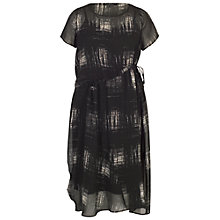 Buy Chesca Printed Chiffon Dress With Slip, Black Online at johnlewis.com