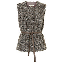 Buy Betty Barclay Faux Fur Gilet, Grey Taupe Online at johnlewis.com