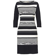 Buy Betty Barclay Graphic Dress, Black/Cream Online at johnlewis.com