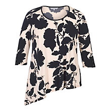 Buy Chesca Floral Print Jersey Tunic, Blush/Navy Online at johnlewis.com