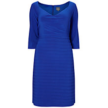 Buy Adrianna Papell Plus Size Surplice Top Banded Bottom Cocktail Dress, Electric Blue Online at johnlewis.com