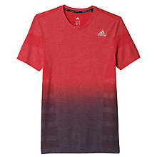 Buy Adidas Primeknit Wool Dip Dyed Running T-Shirt, Ray Red Online at johnlewis.com