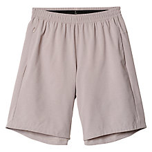 Buy Adidas Aktiv Heather Running Shorts, Vapour Grey Online at johnlewis.com
