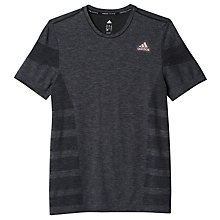 Buy Adidas Primeknit Wool Running T-Shirt, Black Online at johnlewis.com