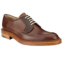 Buy JOHN LEWIS & Co. Made in England Calf Derby Shoes, Brown Online at johnlewis.com