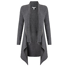 Buy Autumn Cashmere Rib Draped Cardigan, Flannel Online at johnlewis.com