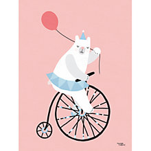 Buy Michelle Carlslund Illustration Bear Print Poster, 30cm x 40cm Online at johnlewis.com