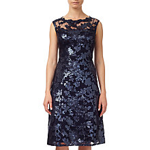 Buy Adrianna Papell Extended Cap Sleeve Fit And Flare Dress, Ink Online at johnlewis.com