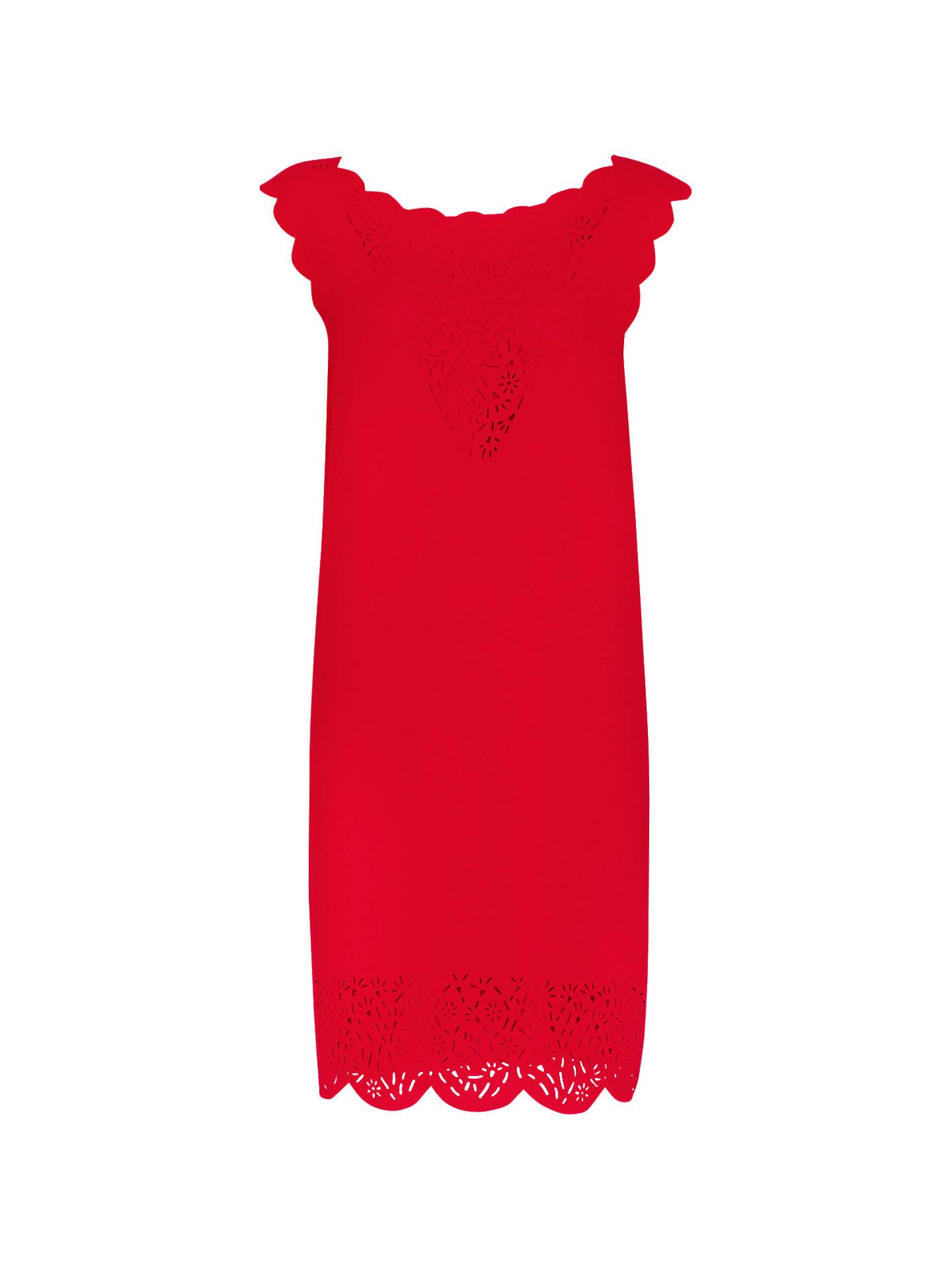 0d4a3889eec2 Buy Reiss Vita Laser Cut Shift Dress, Ruby, 6 Online at johnlewis.com ...