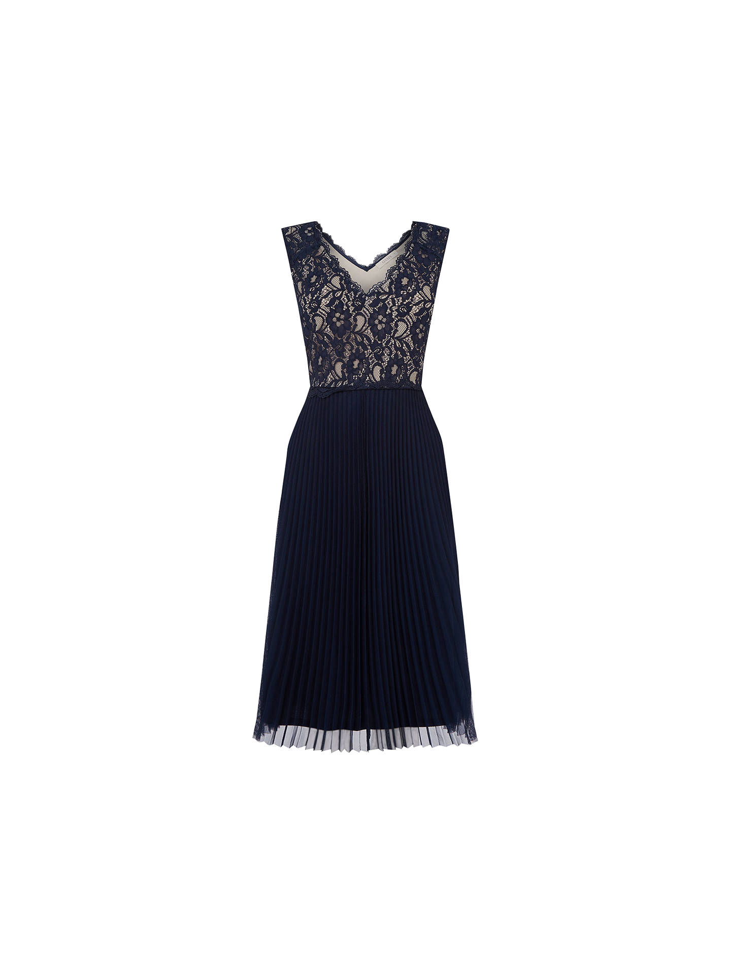 ea2fcdf199 Oasis Lace Pleated Midi Dress at John Lewis   Partners