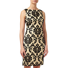Buy Adrianna Papell Embroidered Lace Sheath Dress, Black/Nude Online at johnlewis.com