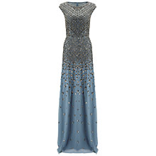 Buy Adrianna Papell Cap Sleeve Beaded Mermaid Gown, Dusty Blue Online at johnlewis.com