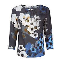 Buy Fenn Wright Manson Flower Print Ariel Blouse, Grey Online at johnlewis.com