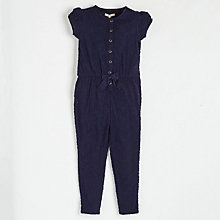 Buy Angel & Rocket Girls' Jumpsuit, Navy Online at johnlewis.com