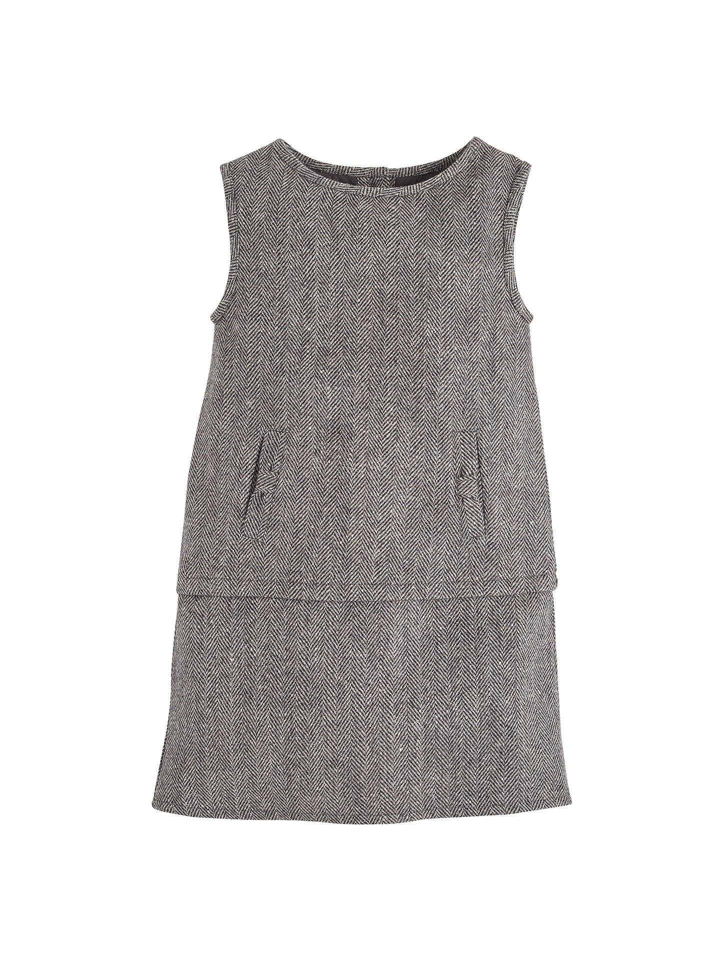 official price new products for promo code Angel & Rocket Girls' Tweed Pinafore Dress, Brown at John ...