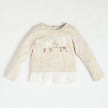 Buy Angel & Rocket Girls' Sequin Sweatshirt, Neutral Online at johnlewis.com