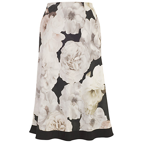 Buy Chesca Contrast Trim Rose Print Skirt, Blush Online at johnlewis.com