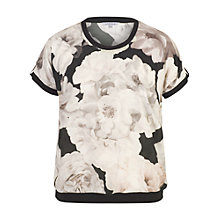 Buy Chesca Contrast Piping Trim Top, Blush Online at johnlewis.com