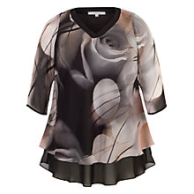 Buy Chesca Misty Rose Tunic Top, Black/Nude Online at johnlewis.com