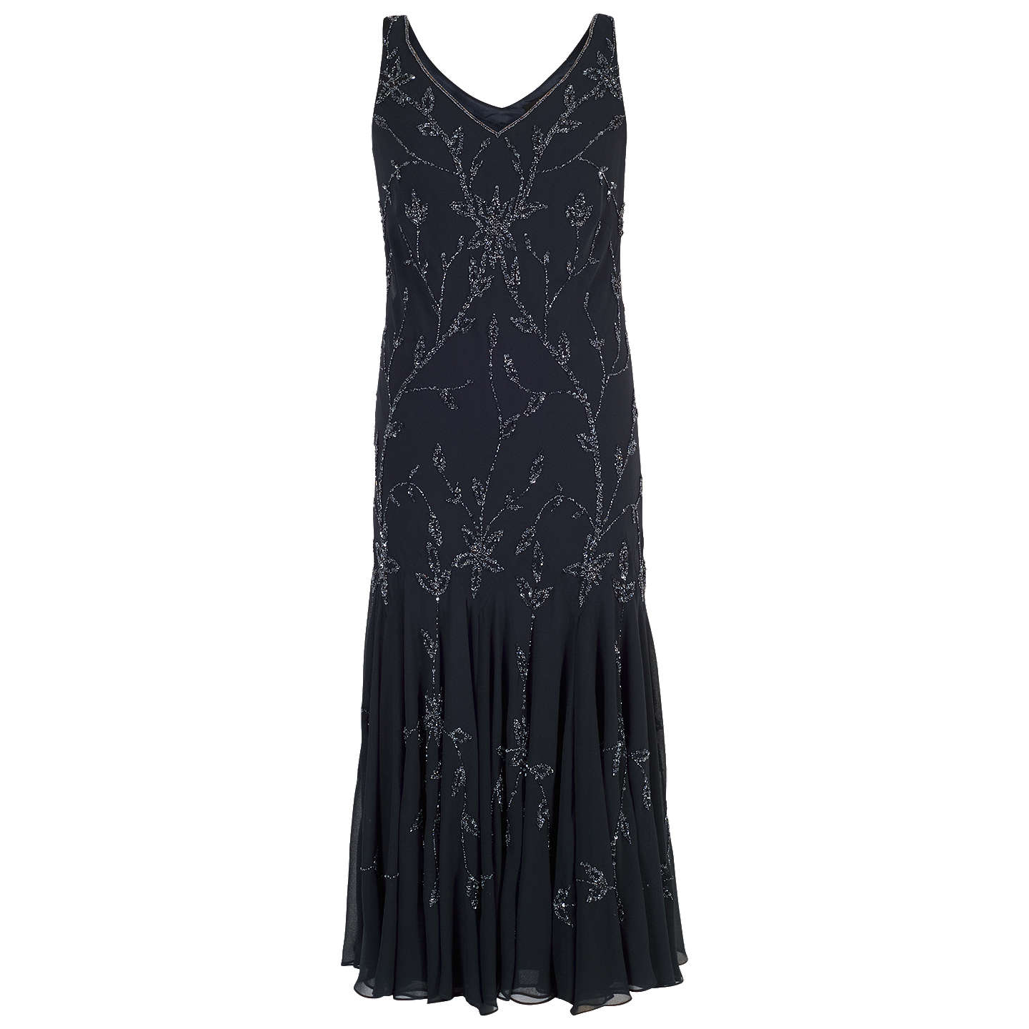 BuyChesca All Over Beaded Dress, Navy, 22 Online at johnlewis.com