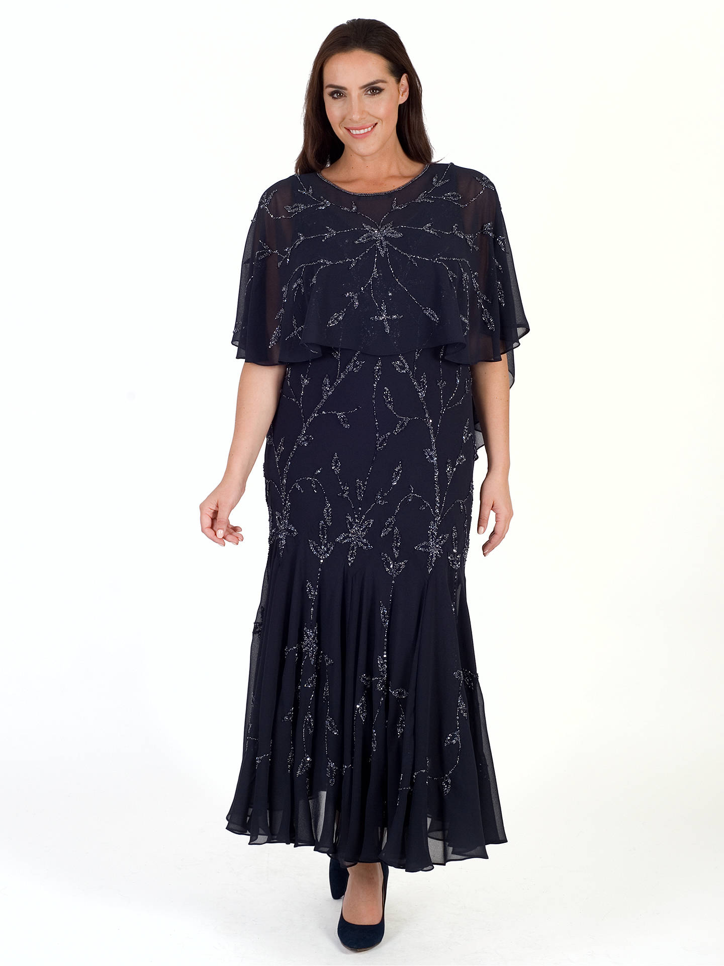 Buy Chesca All Over Beaded Dress, Navy, 14 Online at johnlewis.com