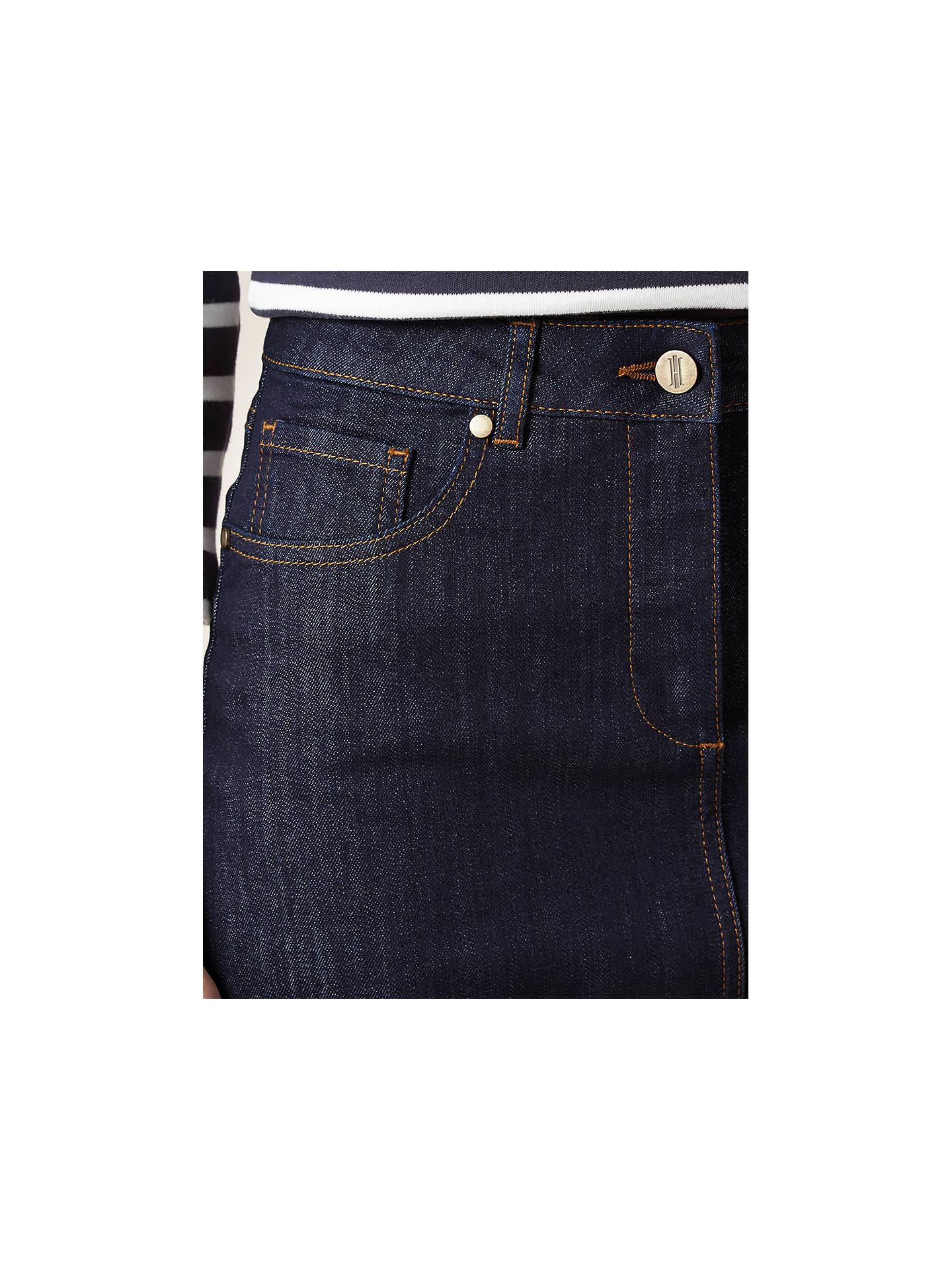 e0084aea7 ... Buy Hobbs Cicely Denim Skirt, Indigo, 6 Online at johnlewis.com