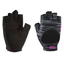 Buy Nike Fit Training Gloves, Black/Pink Online at johnlewis.com