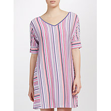 Buy DKNY Short Sleeve Stripe Night Shirt, Pink/Birch Online at johnlewis.com